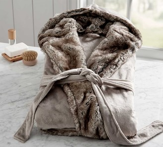 Pottery Barn Ombre Tipped Faux Fur Robe