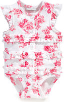 First Impressions Baby Bodysuit, Baby Girls Floral Ruffled French Creeper