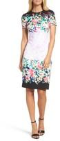 Maggy London Women's Floral Print Scuba Dress