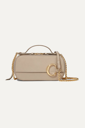Chloé C Leather Shoulder Bag - Taupe