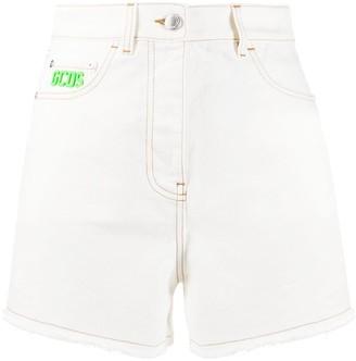 GCDS Logo Patch Denim Shorts