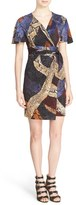 Just Cavalli Women's 'Cross Naif' Wrap-Style Sheath Dress
