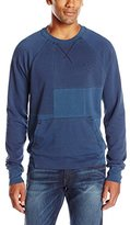 True Religion Men's Patchwork Pullover Sweatshirt