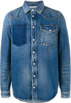 Valentino distressed denim shirt
