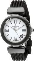 Charriol Women's AE33CB173004 Ael Analog Display Swiss Quartz Black Watch