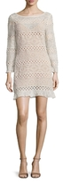 Tracy Reese Lace Inset Flounce Shift Dress