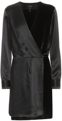 Rag & Bone Victor satin and velvet dress