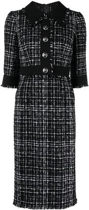 Dolce & Gabbana Tweed Mid Dress