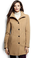 Classic Women's Tall Luxe Wool Parka-Vintage Birch Heather Dots