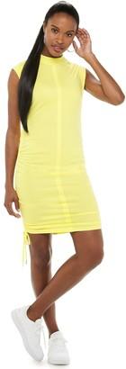 JLO by Jennifer Lopez Women's Side Ruched Mock Neck Dress