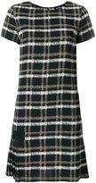 Armani Jeans grid print dress