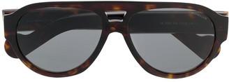 Moncler Eyewear Tortoiseshell Aviator Sunglasses
