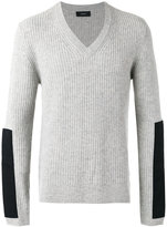 Joseph contrast patch jumper - men - Cashmere - S