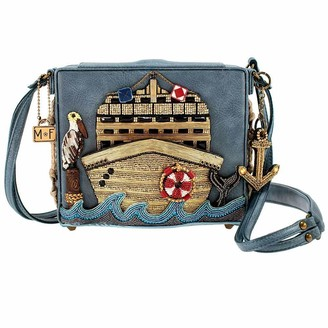 Mary Frances All Aboard Embellished Cruise Ship Crossbody Handbag