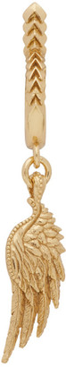 Emanuele Bicocchi Gold Single Wing Hoop Earring