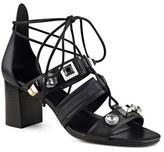 Nine West 'Sowell' Crystal Embellished Ghillie Lace Sandal (Women)