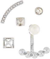 Rebecca Minkoff Singles Club Pearly Mix-&-Match Earring Set, Silvertone