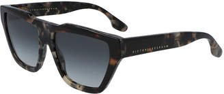 Victoria Beckham Modern Squared Cat Acetate Aviator Sunglasses