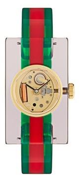 Gucci Web Plexiglas Watch - Multi