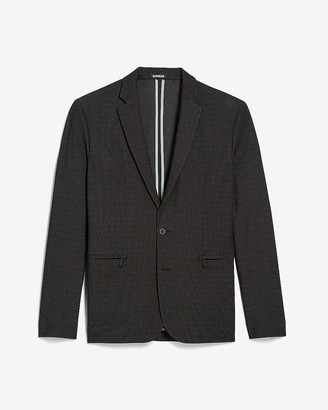 Express Slim Black Textured Luxe Comfort Knit Blazer