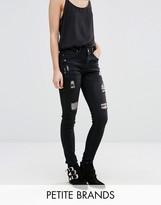 Boohoo Petite Distressed Skinny Jeans