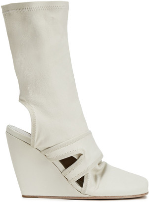 Rick Owens Cutout Stretch-leather Ankle Boots