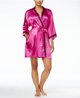 Thalia Sodi Lace-Trimmed Satin Robe, Only at Macy's