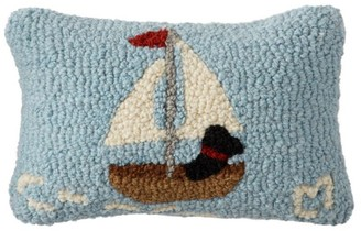 L.L. Bean Wool Hooked Throw Pillow, Lakeside Labs