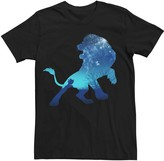 Simba Licensed Character Men's Disney Lion King Night Sky Silhouette Tee