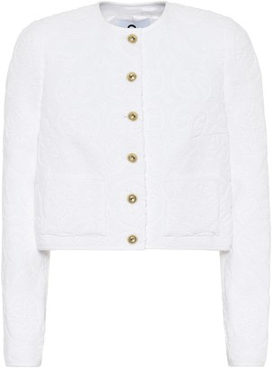 Marine Serre Floral cotton-toweling jacket