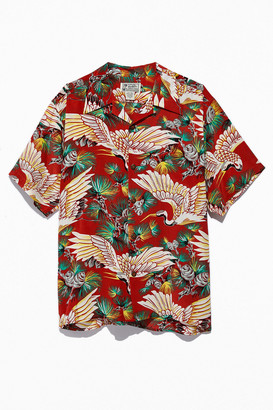 Avanti Designs Hawaiian Thousand Years Silk Short Sleeve Button-Down Shirt