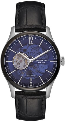 Kenneth Cole NY Men's Blue Skeleton Dial Watch