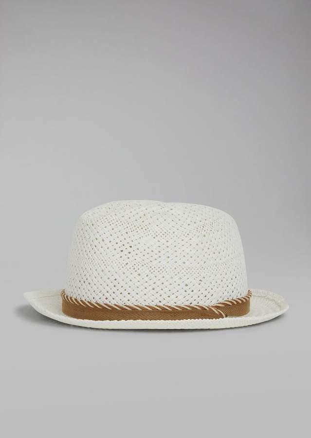 Giorgio Armani Hat In Woven Paper With Cord