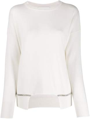 Fabiana Filippi asymmetric long-sleeve sweater