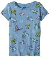 Life is Good Happy Dog Print Crusher Tee Girl's T Shirt