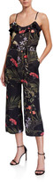 Ted Baker Calline Highland Floral-Print Sleeveless Frill Jumpsuit