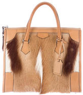 Reed Krakoff Leather-Trimmed Springbok Satchel