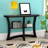 Aquin Hallway Console Table Ebern Designs Color: Cappuccino