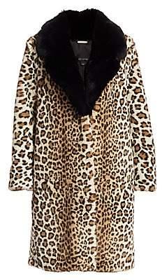 St. John Women's Ocelot-Print Faux Fur Coat