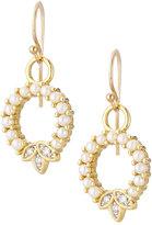 Jude Frances Sonoma 18K Open Circle Dangle & Drop Earrings w/ Pearls & Diamonds