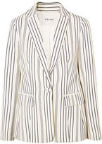 Frame Striped Crepe Blazer - Cream