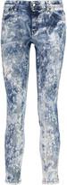 Just Cavalli Printed mid-rise skinny jeans