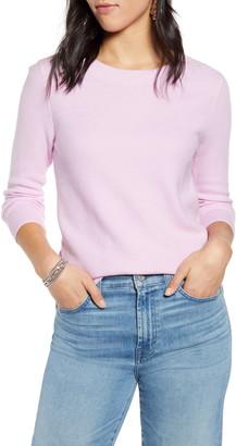 Halogen x Atlantic-Pacific Three Quarter Sleeve Sweater