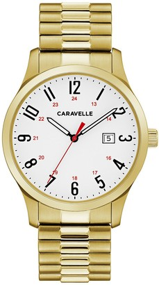 Caravelle by Bulova Men's Easy Reader Stainless Steel Expansion Watch - 44B117