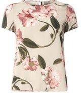 Dorothy Perkins Womens **Vero Moda Floral Printed Short Sleeve Top- White