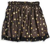 Kate Spade Girls 2-6x Metallic Star Crinkle Skirt