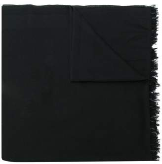 Valentino long raw edge scarf