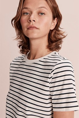 Country Road Stripe Basic Australian Cotton T-Shirt