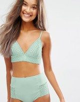 Monki Triangle Lace Bra