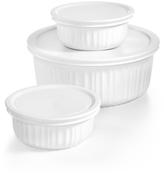 Corningware French White 6-Pc. Bakeware Set